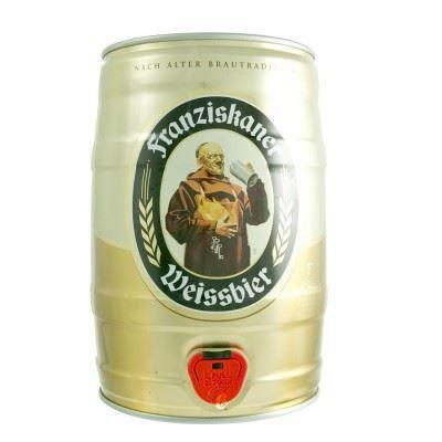 fut de bière franziskaner weissbier 5°- 5l - achat / vente bière