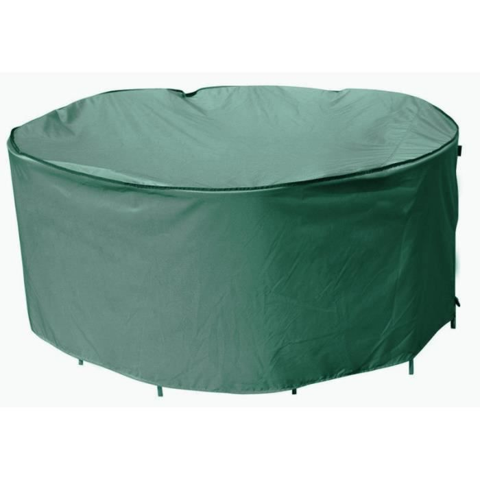 Housse de protection pour table jardin ronde Ø188x84cm -Résistant à ...