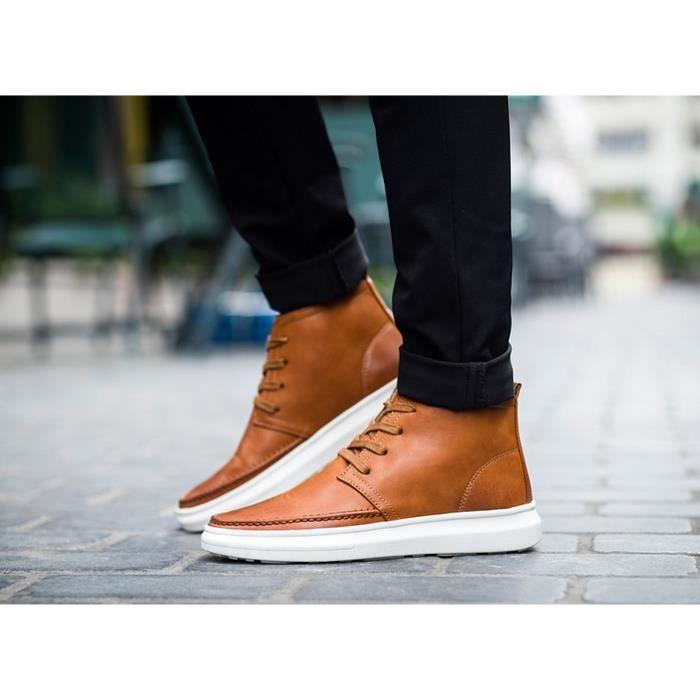 Chaussures Hommes 2016 Nouveau Hommes Loisirs Chaussures de skate Martin Bottes d'Orange