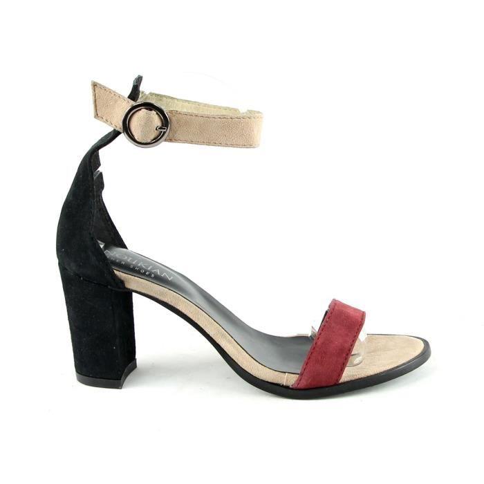 Sandales en Cuir Ava bordeaux Ku2Z2Whh