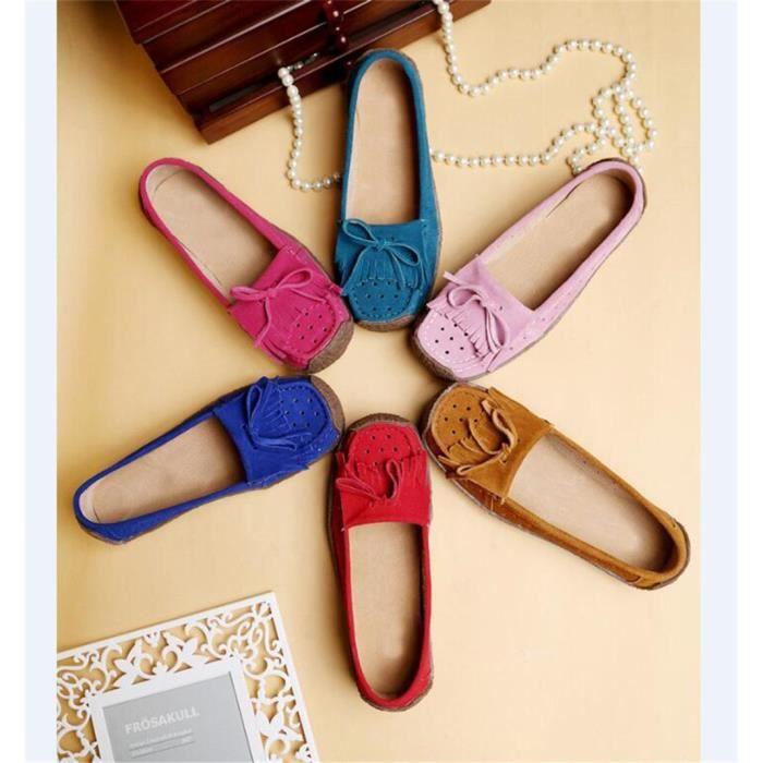 Moccasin femmes personnalité Moccasin femme Chaussures plates printemps et automne Chaussures Confortable Respirant Plus De Couleur