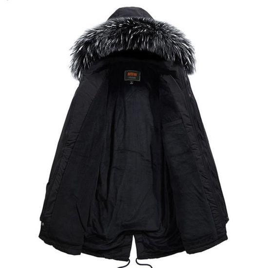 La Avec Capuche Vêtement Cordon Serrage Logo De Homme Parka Hommes Marque Taille À Masculin Hiver PWnfB8