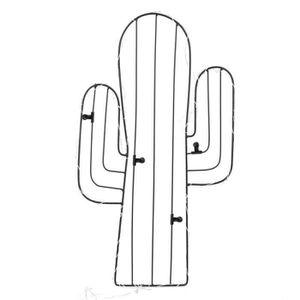 PÊLE-MÊLE PHOTO Pêle-mêle cactus avec LED - 4 pinces - Noir 44 cm