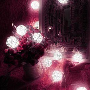 BOULE A FACETTES 10 LED couleur rotin boule feux de la chaîne de fé