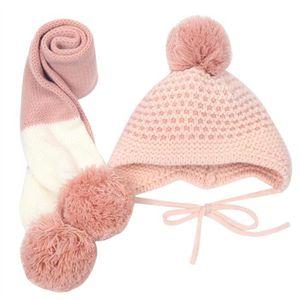 ECHARPE - FOULARD Automne hiver enfants tricoté bonnet écharpe deux 9710d7ed66c