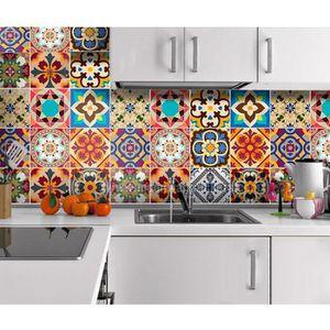 papier peint 8pcs sticker vinyl autocollant cuisine salle de ba