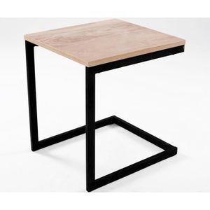 TABLE D'APPOINT Table d'appoint design industriel NEWARK 40 cm chê
