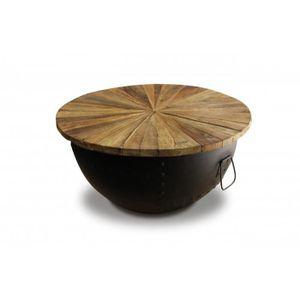 revendeur 6cb2d 2a23e Table basse ronde noir - Achat / Vente Table basse ronde ...