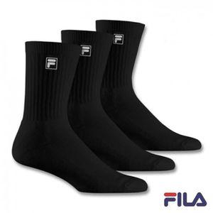 93cc2345687e CHAUSSETTES TRIPACK Socks FILA TENNIS F9000 LARGO NEGRO Logo