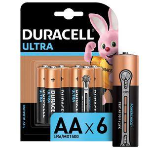 PILES DURACELL Ultra Power Piles type LR6 / AA Lot de