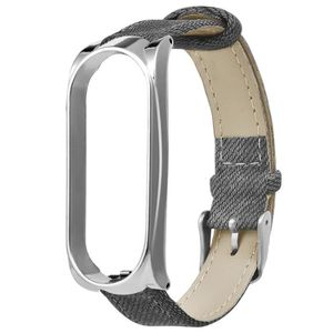 MONTRE CONNECTÉE Gris Denim Bracelet Métal Case Bracelet Montre-bra