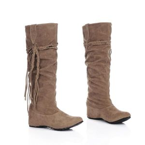 8f8a71860 Le daim Slouch boots for Women Hiver chaud Snow Mid-calf bottes ...