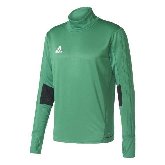 ADIDAS Tiro 17 T-shirt d'entrainement - Manches longues - Vert / Noir / Blanc