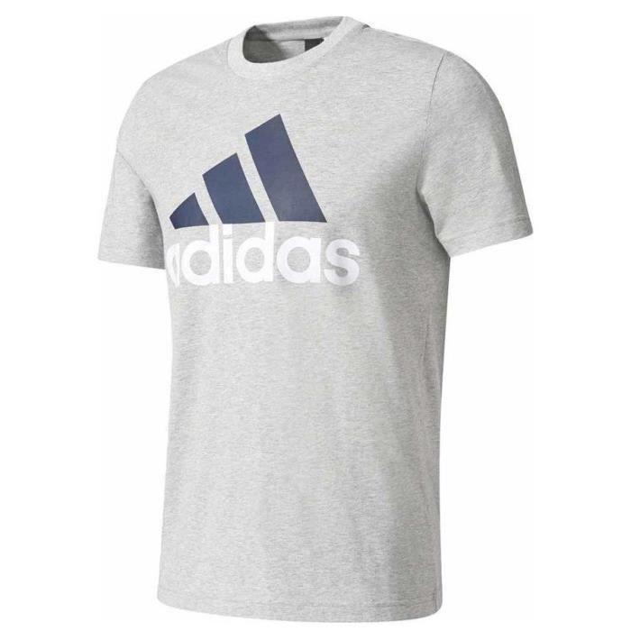 ADIDAS ORIGINALS T-Shirt Manches Courtes Homme Gris Clair