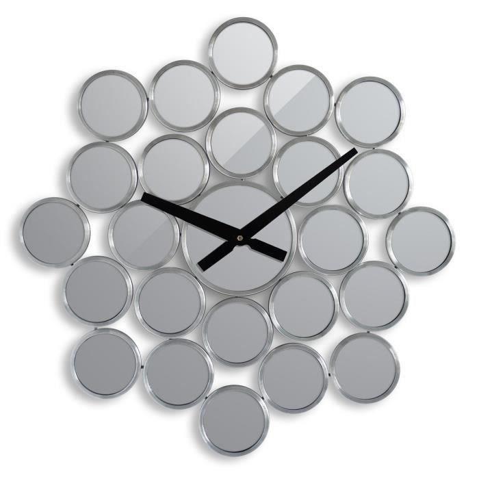 horloge murale miroir achat vente pas cher. Black Bedroom Furniture Sets. Home Design Ideas