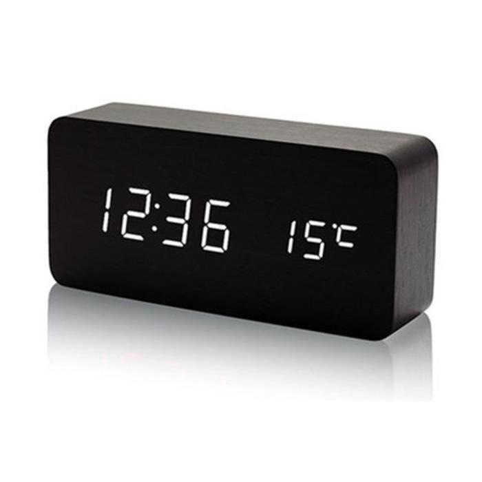 r veil digital noir led blanc lumineux fluorescent avec temp rature trop class achat vente. Black Bedroom Furniture Sets. Home Design Ideas