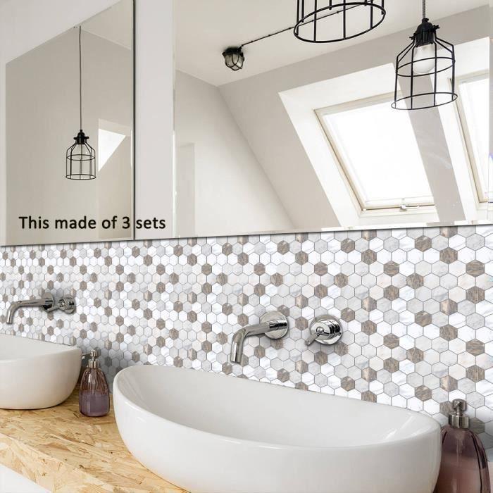 Auto-adhésif Tile Art Floor Sticker mural Sticker bricolage cuisine salle  de bains Décor vinyle BT3858