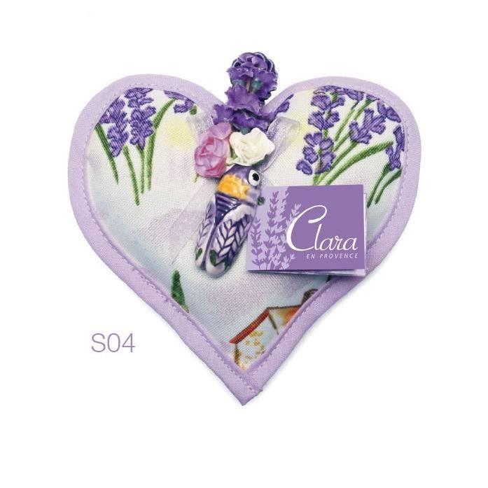 Produit De Provence Bourse Lavande Sechee En Forme De Coeur Et Sa