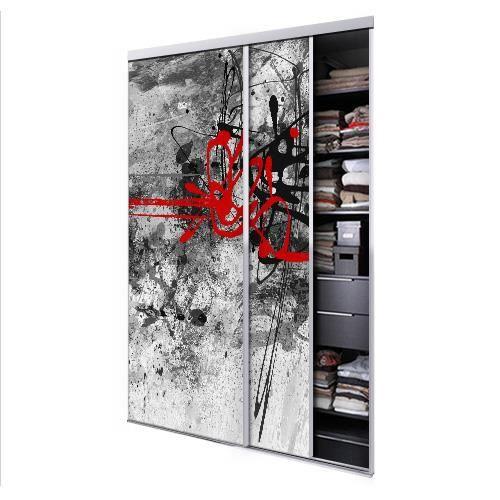 tixelia porte de placard coulissante 2 vantaux urban. Black Bedroom Furniture Sets. Home Design Ideas