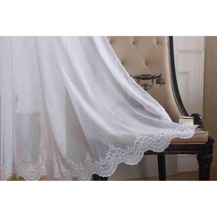 rideaux voilage 300cm achat vente rideaux voilage. Black Bedroom Furniture Sets. Home Design Ideas