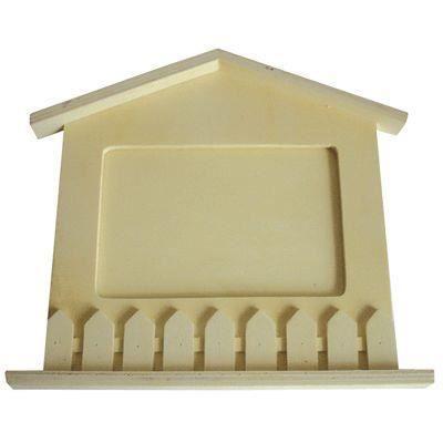 Cadre photo forme maison en bois a d corer achat vente support d corer cadre photo forme - Maison a decorer ...