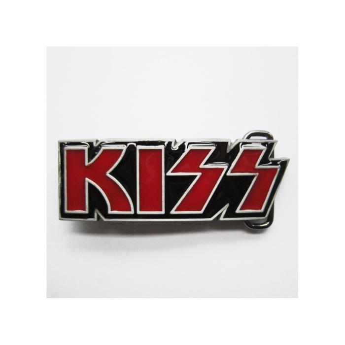 Boucle de ceinture kizz rouge groupe hard rock année 70 - Achat ... 80ed70f1957