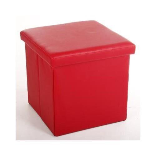 pouf pvc carre rouge achat vente pouf poire pvc. Black Bedroom Furniture Sets. Home Design Ideas