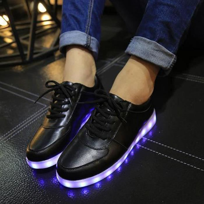 Wecheers® Femme LED sport Sneaker lumineuses chaussures Shoes 7 Couleurs