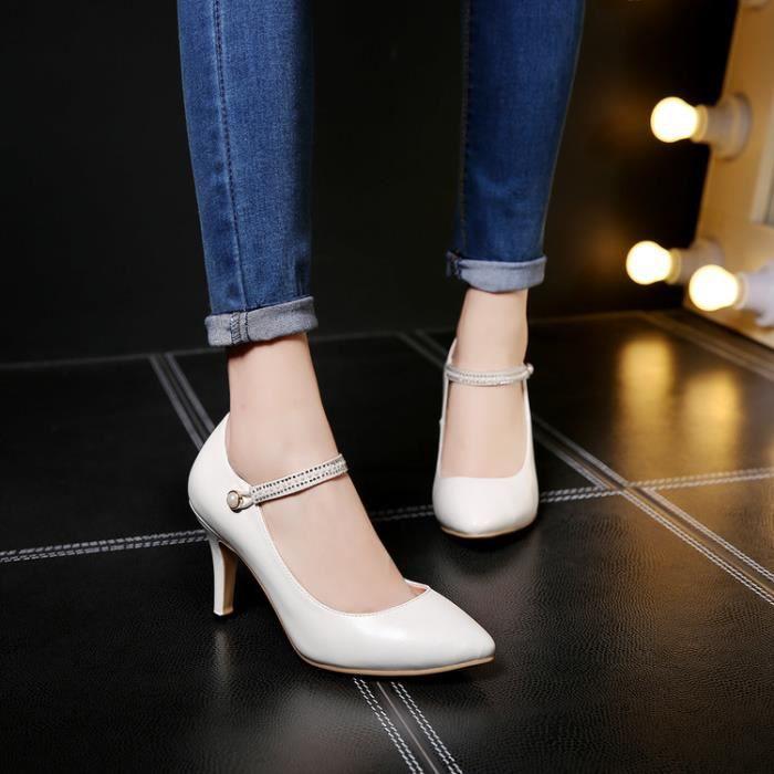 talons hauts-Pure Color High Heel Heel Thin Ban...