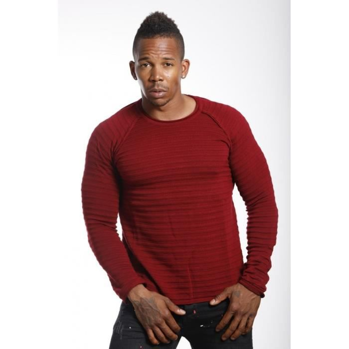 PULL Pull homme uni rouge