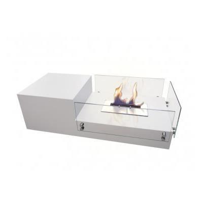 TABLE BASSE Table basse de salon avec cheminée Bio éthanol int