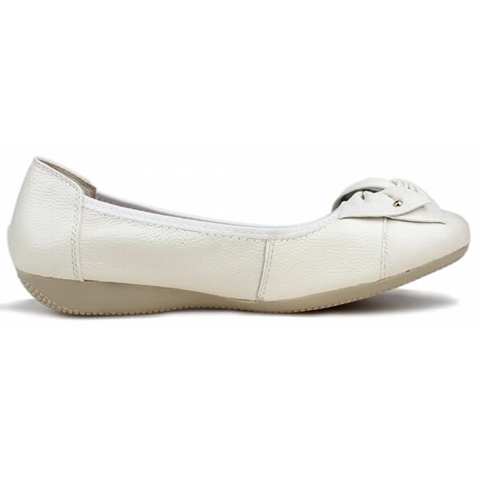 Cuir Mocassins Flats Slip On BO46G Taille-39 1-2