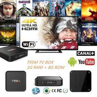 BOX MULTIMEDIA T95M TV BOX 1+8G Télé Récepteur Android 5.1 S905 1