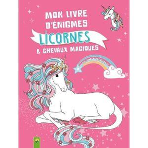 LIVRE LOISIRS CRÉATIFS Mon livre d'énigmes licornes & chevaux magiques