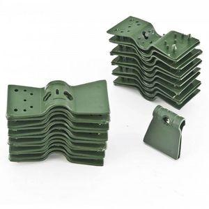 CLÔTURE - GRILLAGE , Clips plastique vert de fixation cloture, brise