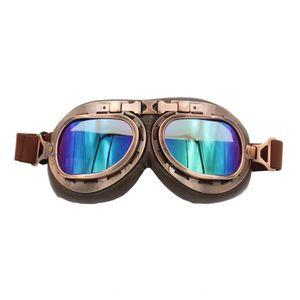 LUNETTES - MASQUE lunette moto aviateur vintage multicolore Len