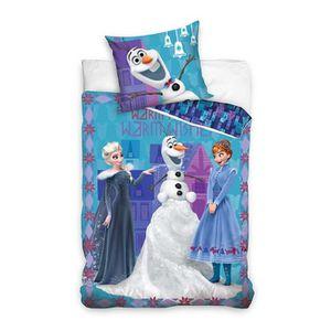 HOUSSE DE COUETTE ET TAIES Frozen La Reine des Neiges Housse de Couette 140x2