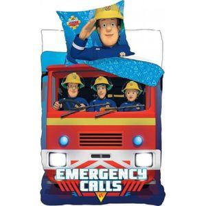 Lit pompier achat vente lit pompier pas cher soldes - Housse de couette sam le pompier ...