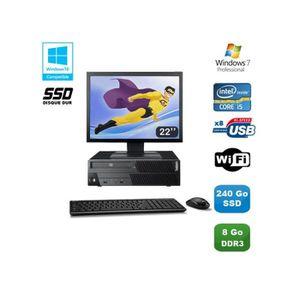 UNITÉ CENTRALE  PC Lenovo M90P 5864 Core i5-650 3.2GHz 8Go 240Go S