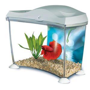 AQUARIUM MARINA Kit aquarium pour betta - 6,7 L - Blanc