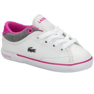 marque populaire concepteur neuf et d'occasion valeur formidable Baskets Lacoste Angha en blanc et rose pour bébé fille Blanc ...