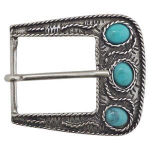 5024af7776f0 Boucle de ceinture avec pierres turquoises et ornements, boucle argentée  pour femme, boucle bijou, 3 cm, 18140  Argenté, Argenté - Achat   Vente  ceinture et ...