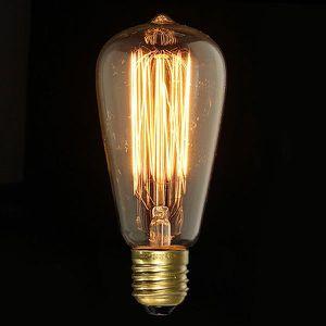 AMPOULE - LED U Ampoule Edison ST64-E27 220v 40w Lampe Rétro