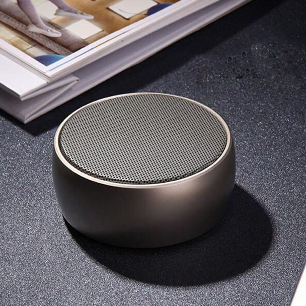 Tenoens® Cube Portable Métal Stéréo Sans Fil Bluetooth Haut-parleur Pour Smartphone Tablet Or_poi186
