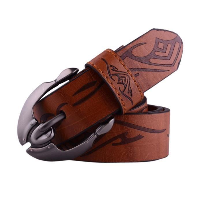1048d31b91c Hommes Casual ceinture cuir boucle automatique sangle taille  courroie-CFF61208404BW 3780