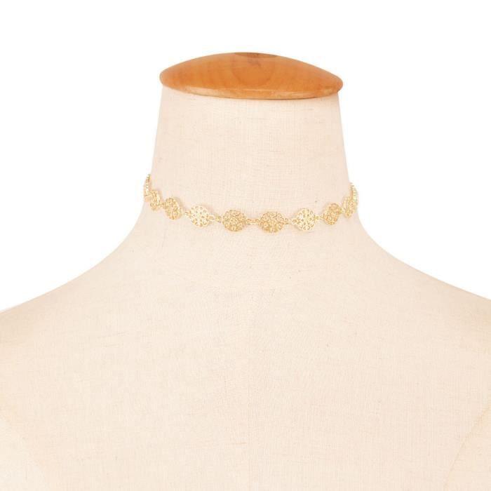 Estimetown®Femmes pendentif collier chaînes de charme élégant belle Doré@YNZ09200202