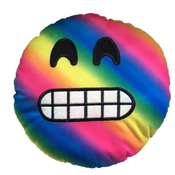 XCH61024544XL@35cm coloré émoticône oreiller Smiley souriant émoticône peluche coussin émotion