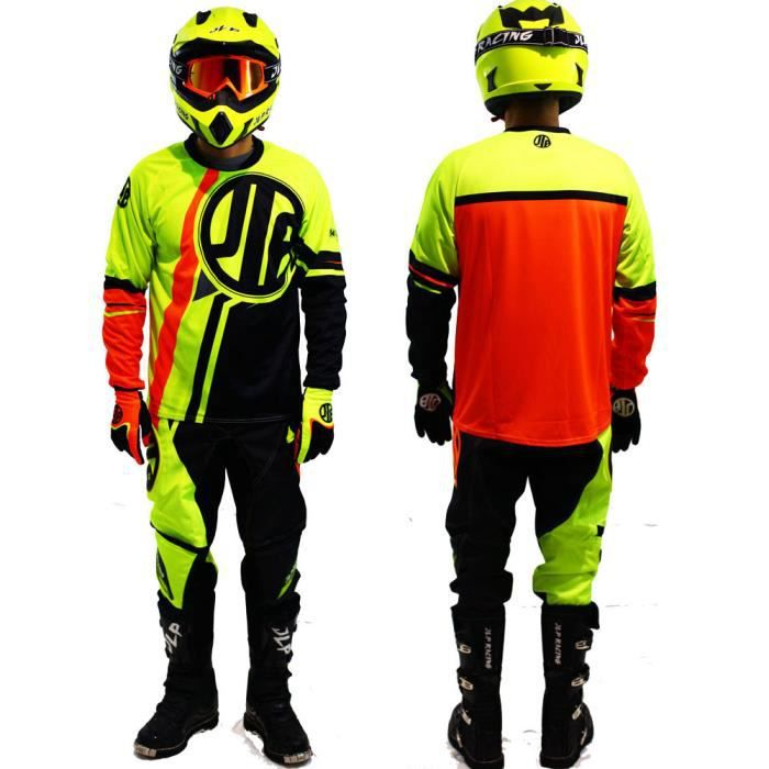 tenue complete moto cross quad vtt bmx maillot gants taille 34 l jlp racing achat vente pack. Black Bedroom Furniture Sets. Home Design Ideas