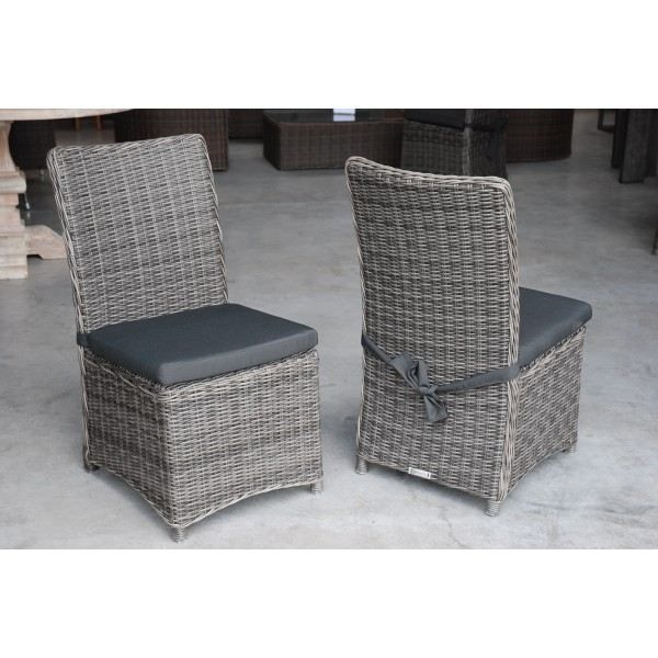 Chaise de jardin Havana en résine tressée ronde… - Achat / Vente ...