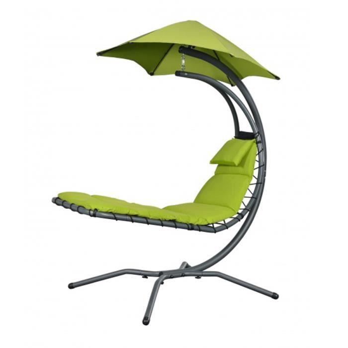 chaise longue de jardin suspendue achat vente pas cher. Black Bedroom Furniture Sets. Home Design Ideas